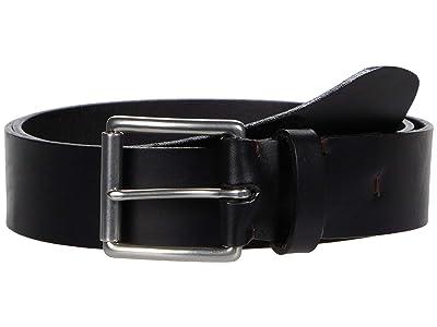 Torino Leather Co. 38 mm Birdle Leather, Hand Burnished (Black) Men