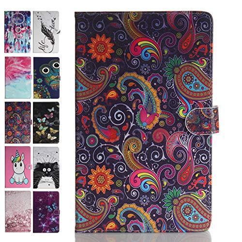 ANCASE Tablet Hülle kompatibel für Apple iPad Mini 5 4 3 2 1 Hülle Case Leder Tasche Muster Schutzhülle Flip Cover mit Kartenfach - Bunte Spitze