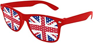 UK Flag Union Jack Custom Sunglasses Perforated Lenses