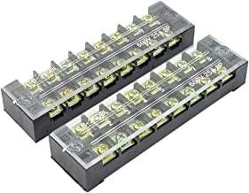 BokWin 600V 25A 8 Positions Dual Rows Cable Barrier Block Terminal Strip 2Pcs