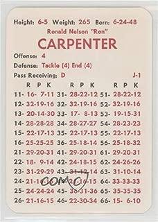 Ron Carpenter (Football Card) 1975 APBA Football 1974 Season - [Base] #ROCA