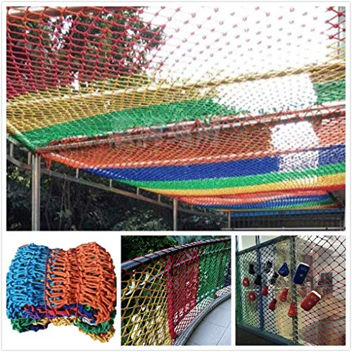 GWFVA Kleurrijke Beschermende Net Outdoor Decoratieve Netto Kinderen Veiligheid Netto Hek Klimmen Balkon Trap, Anti-val Netto Isolatie Swing Guardrail Raam Bouw Kleuterschool Kattennet