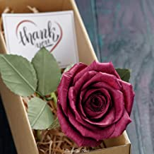 1st Year Wedding Anniversary Gift, Unique Handmade Pape Rose, Perfect Present for Wife or Husband (Dark red Burgundy)