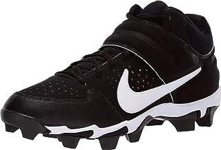 Men's Alpha Huarache Varsity Keystone Mid Molded Baseball Cleat Black/White Size 10.5 M US