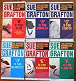 'A' is for Alibi, 'B' is for Burglar, 'C' is for Corpse, 'D' is for Deadbeat, 'E' is for Evidence and 'F' is for Fugitive, 6 Volume set, by Sue Grafton