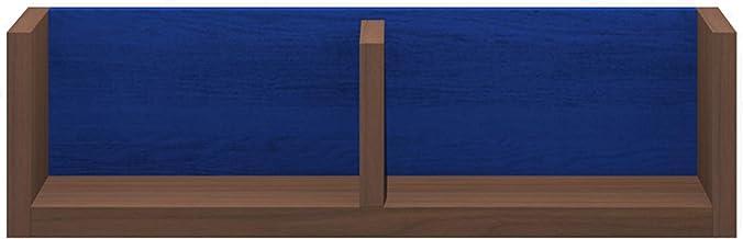 パモウナ(Pamouna) ラック 本体:ウォールナット/バックボード:ブルー 横幅:60・奥行17・高さ17.6cm