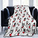 Mickey Mouse Blanket 80x60inch Suitable for Adult Lightweight Flannel Fleece Blanket is Suitable for Sofa Bed Sofa Travel Camping Air Conditioner Quilt