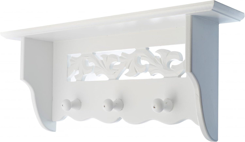 Wandgarderobe Weiß dreieckig  Metall Haken Ablagefläche Modern