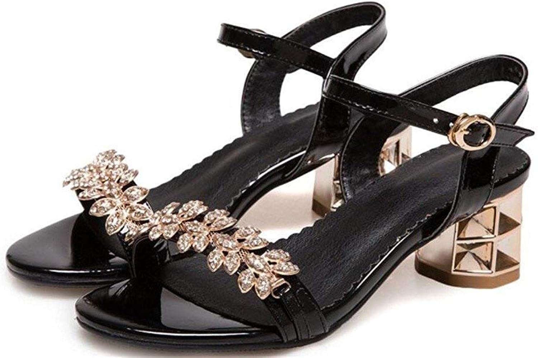 Damen Sandalen Strass Einfach Bequem, Shopping Tglich Party, 5cm, 34-40