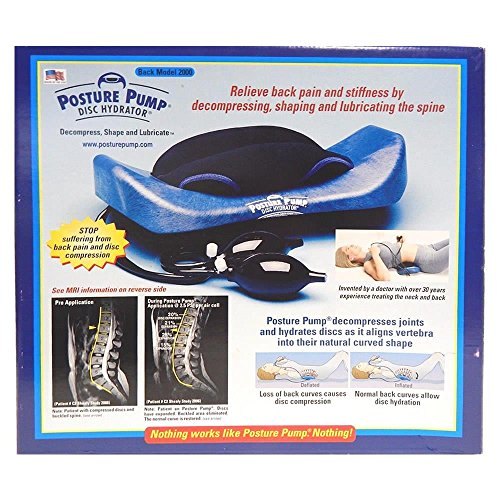 POSTURE PUMP Relief for Low Back Pain Elliptical Back Rocker™ DISC HYDRATOR (Model 2000)