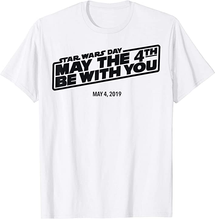 May The 4th Be With You Logo: Star Wars Day May The 4th Be With You Simple Logo T-Shirt