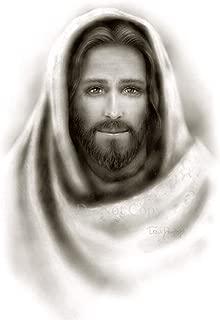 Picture of Jesus Christ black & white portrait print