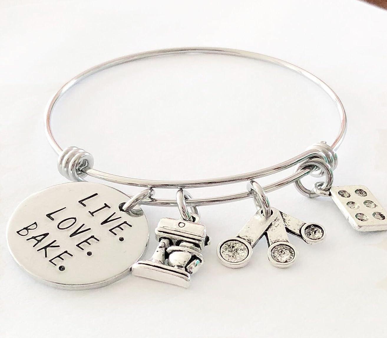 Bracelets for women, bracelet, charm bracelets for women,Muffin Pan & Measuring Spoons Necklace, Baker's Necklace, Cupcake Pan Necklace, Baking Themed Jewelry