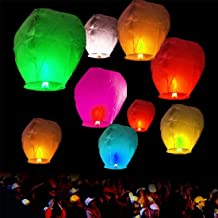 GT Flying Sky Lanterns Hot Air Balloon Multicolor (Set of 100)
