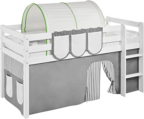 Lilokids Tunnel Grün Beige - für Hochbett, Spielbett und Etagenbett