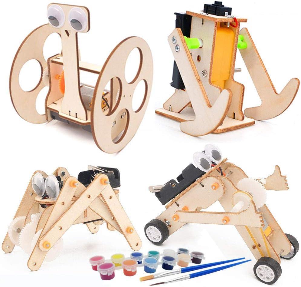 DEUXPER Wooden Robots New Orleans Mall Models Building Kits for Teens o Kids Regular discount and