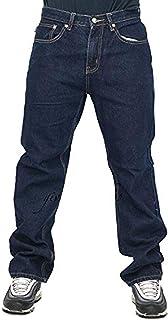 Peviani Mens Jeans, Indigo G Denim Pants, Straight, Comfort Fit Hip Hop Star Wash