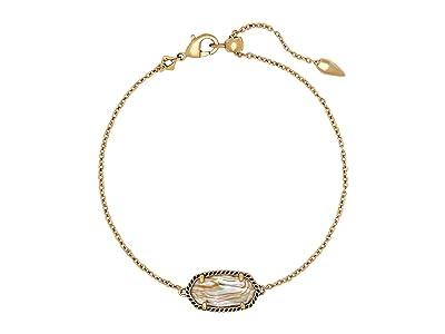 Kendra Scott Elaina Single Slide Bracelet (Vintage Gold White Abalone) Bracelet