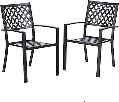 Amazon.com: oldzon - 4 sillas de comedor de ratán para patio ...