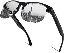 BangLong Sonnenbrille Damen Herren, Halbrahmen Sonnenbrille Polarisiert Retro Klassische Sportbrille Fahrer Brille Frauen UV400 Verspiegelt