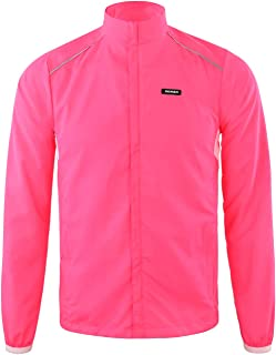 DONEN Cycling Waterproof Lightweight Windproof Jacket with UV Protection Bike Breathable Outdoor Sports Wear( Red S )