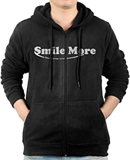 Men's Roman Atwood Smile More Zip-Up Hooded Sweatshirt