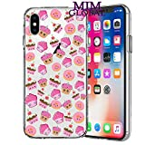 MIM Global Cool Funky Romantic Gift Flowers Animal Case Covers Compatible for All iPhone (iPhone 6/6s, Cupcakes)