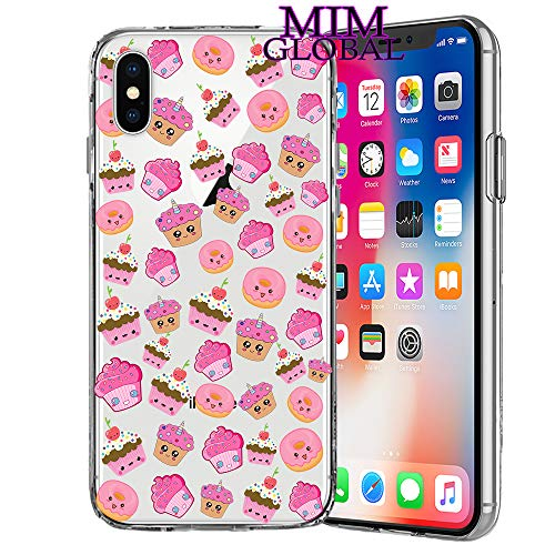 MIM Global Freddo Impaurito Romantico Regalo Fiori Animale Custodie Case Covers Compatibile per Tutti iPhone (iPhone XR, Cupcakes)