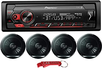 "$169 » Pioneer MVH-S320BT 1-Din in-Dash Car Stereo Music Lover's Bundle with Four 6.5"" Coaxial Speakers. Digital Media Receiver w..."
