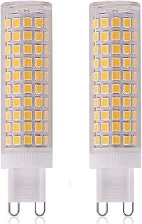 XXZ Bombilla LED G9 de 15W Equivalente a 150W Lampara Halógena, 1500LM, Regulable, Sin Parpadeo, Sin Estroboscópico, 360 Grados, lámpara g9 para iluminación del hogar, Paquete de 2,Cool White 6000k