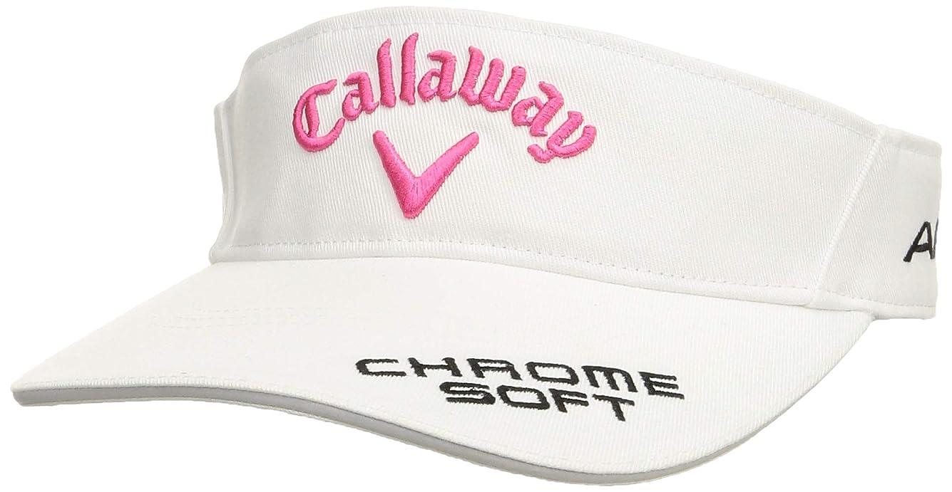 有害なゼリー驚くべき[キャロウェイ] [レディース] 定番 ロゴ入り サンバイザー (ツアーモデル)[ 241-9984808 / TOUR VISOR WOMEN ] 帽子 ゴルフ