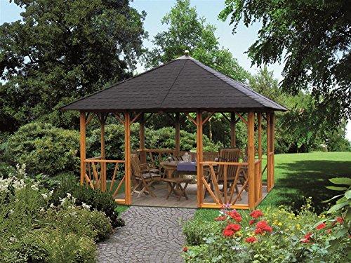 Riwo Gartenpavillon Pavillon - 176 Belleair offen 4-Eck 3,5 x 3,5m