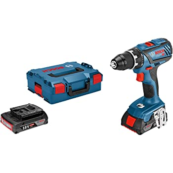 Bosch Professional perceuse visseuse Sans Fil GSR 18V 28 (2 batteries 2,0 Ah,18 V, ∅ de vissage maxi : 8 mm, L BOXX)
