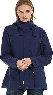 TKTOKY Rain Jackets Waterproof Women Windbreaker Lightweight Hooded Slim Fit Raincoats