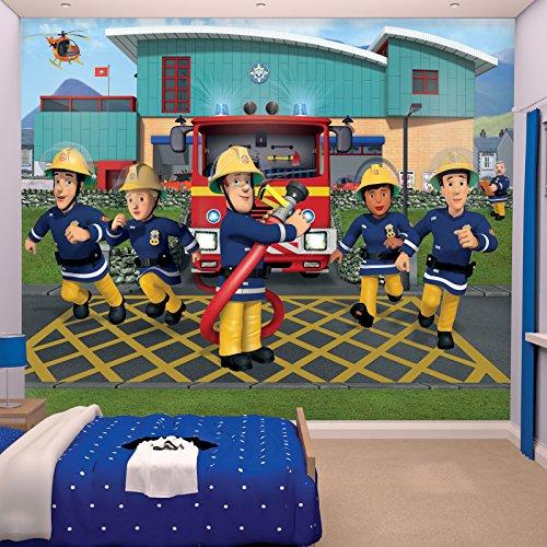Fototapete Feuerwehrmann Sam inkl. Tapetenkleister Kindertapete Wandtapete
