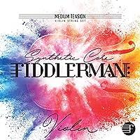 Fiddlermanバイオリン弦セット、ボールエンド付き合成コア4/4および3/4サイズ用