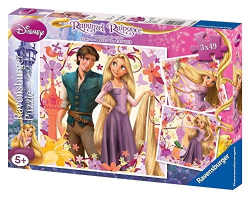 Ravensburger Kinderpuzzle 09298 - Rapunzel - 3 x 49 Teile