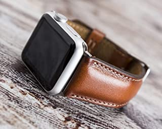 Apple Watch Band 44mm, 42mm, 40mm, 38mm, Genuine Leather Personalized, Handmade,12 Color Options