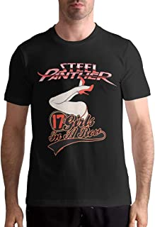 Steel Panther Men's T Shirt Cotton Fashion Sports Casual Round Neck Short Sleeve Tees