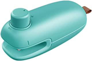 Mini Bag Sealer, 2 in 1 HeatSealer and CutterHandheld, Portable Bag Heat Resealer Sealer Quick Seal for Food VacuumSeal...