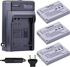 Tectra 3 Pack 1400mAh NB-5L Replacement Battery and Charger for Canon PowerShot S100, S110, SD790IS, SD850IS, SD870IS, SD880IS, SD890IS, SD970IS, SD990IS, SX200IS, SX210IS, SX220IS