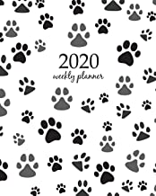 2020 Weekly Planner: Calendar Schedule Organizer Appointment Journal Notebook and Action day With Inspirational Quotes Paw print seamless. Traces of ... seamless (Weekly & Monthly Planner 2020)