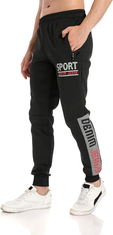 LINTEBOB Mens Jogger Sweatpants Leisure Athletic Pants Workout Athletic Pants Workout