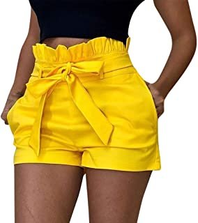 581716a60 Fanteecy 2019 Plus Size Women Casual Elastic High Waist Bowknot Summer  Beach Shorts Loose Lounge Walking