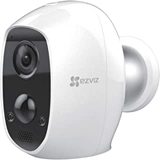 EZVIZ C3A Outdoor Battery Powered Security Camera - 100% Wire-Free 1080P Security Camera with Two-Way Audio, IP65 Waterpro...