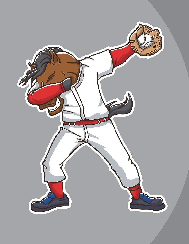 削除するファイアルリストDabbing Horse Baseball Player Notebook: Graph Journal, 5x5 Quad Ruled Graph Paper, School Math Teachers Students, 200 Pages (8.5