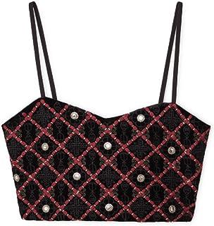 MANGO Crop Tops For Women, BLACK M, Size M