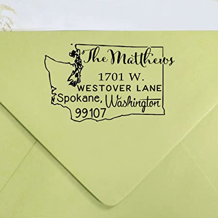 Holiday Christmas card custom rubber stamps -5752 Self inking Holiday return address stamp