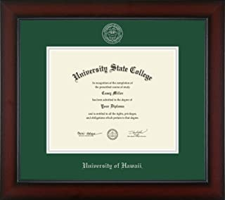 University of Hawaii at Manoa - Officially Licensed - Silver Embossed Diploma Frame - Diploma Size 10