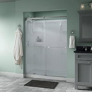 Delta Shower Doors SD3172700 Trinsic Semi-Frameless Contemporary Sliding Door 60in.x71in, Chrome Track